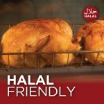 Photo of a halal rotisserie chicken from 1839 kitchen.