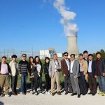 Participants visit a nuclear power plant