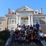 Scholars visit a historic building