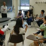 Students engage in classroom discussions