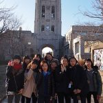 Student pose for a photo on MU's campus