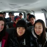 Students in a van to go on a field trip