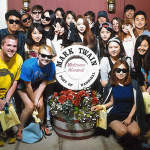 Students and ambassadors on the Mark Twain river boat